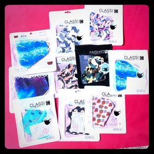 Lot of fashion design facemask